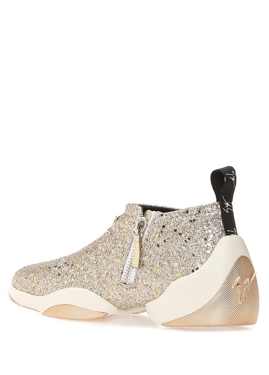Giuseppe Zanotti Gold Kadin Jump Gold Sim Dokulu Kadin Deri Sneaker 590214 Beymen Sneaker Giuseppe Zanotti Kadin