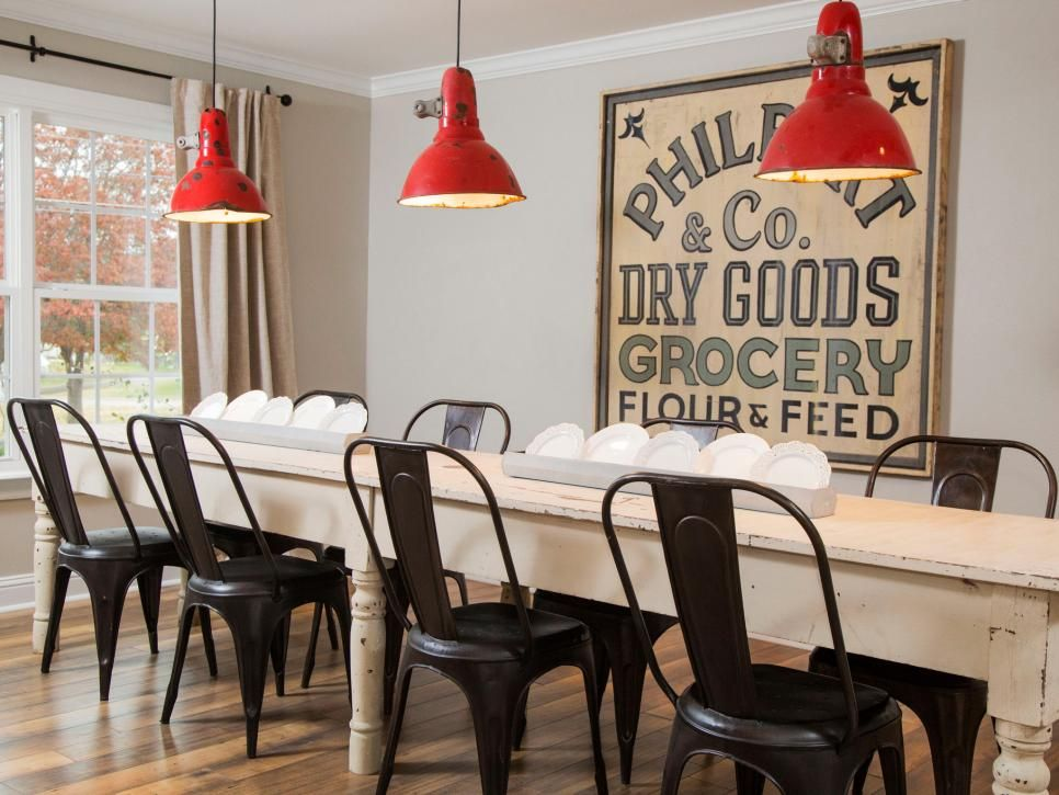 17 Ways To Decorate Like Chip And Joanna Gaines Interior Design Styles And Color Schemes For Ho Dining Room Wall Decor Farmhouse Dining Room Farmhouse Dining