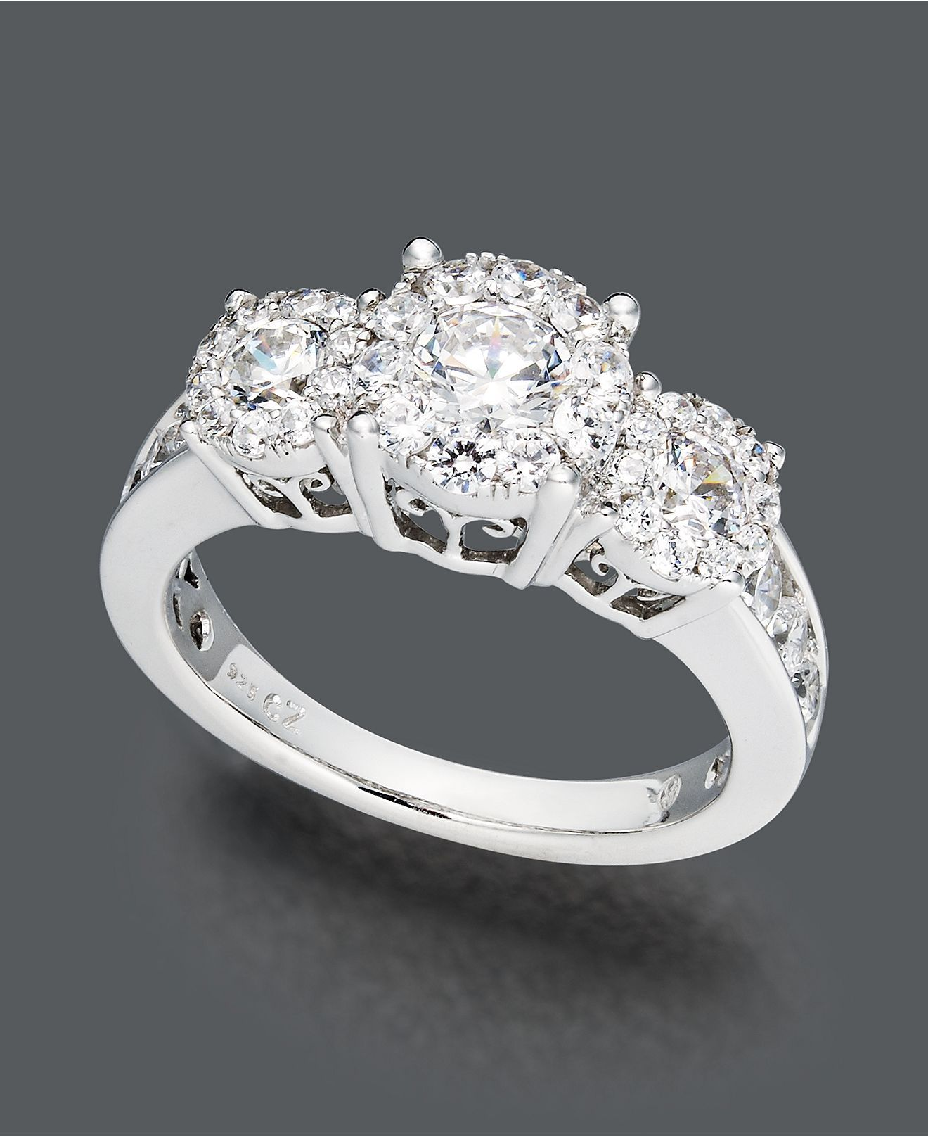Prestige Unity Diamond Ring 14k White Gold Engagement 2 Ct T W Rings Jewelry Watches Macy S