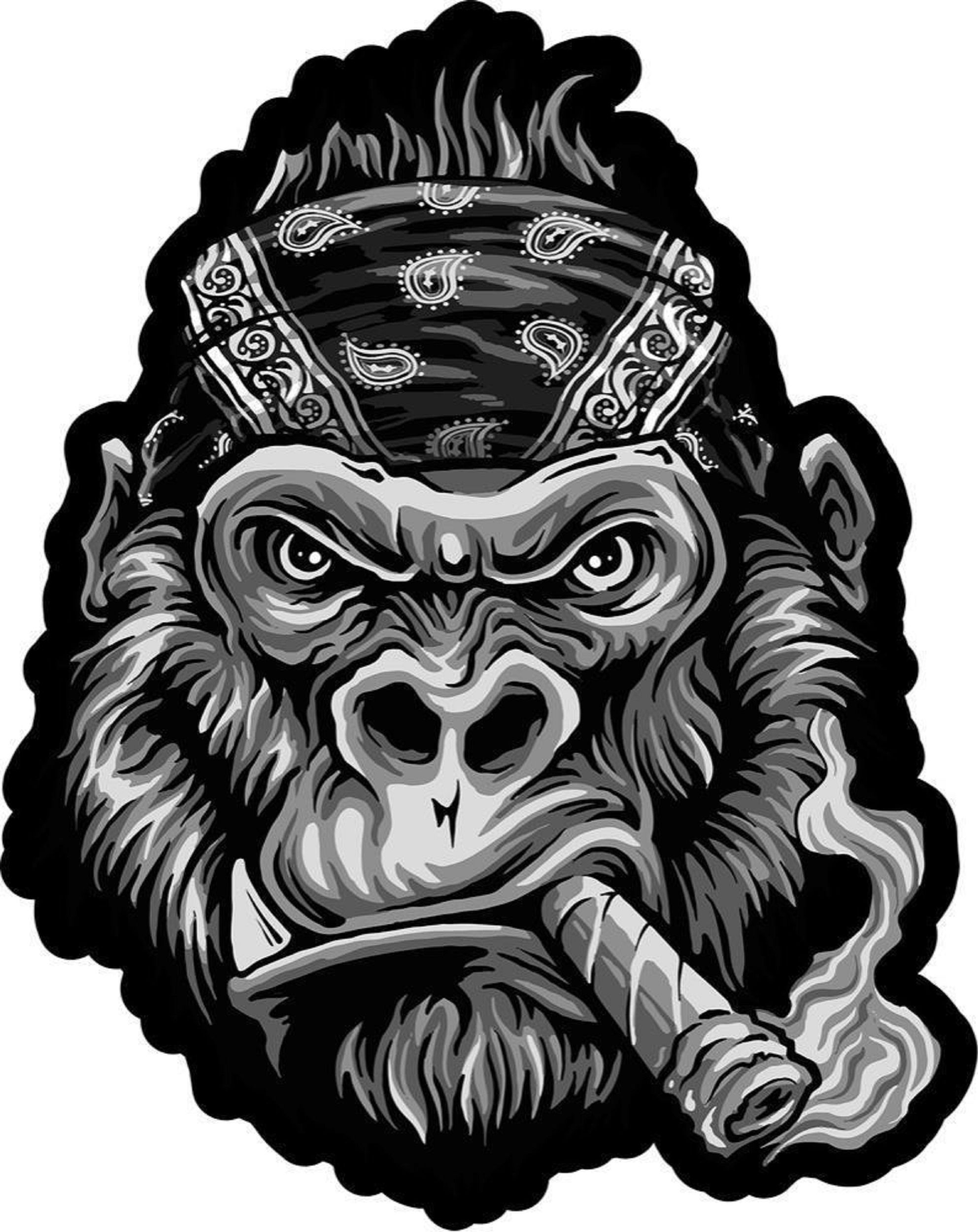 39 gorilla biker head 39 tattoo design and or http. Black Bedroom Furniture Sets. Home Design Ideas