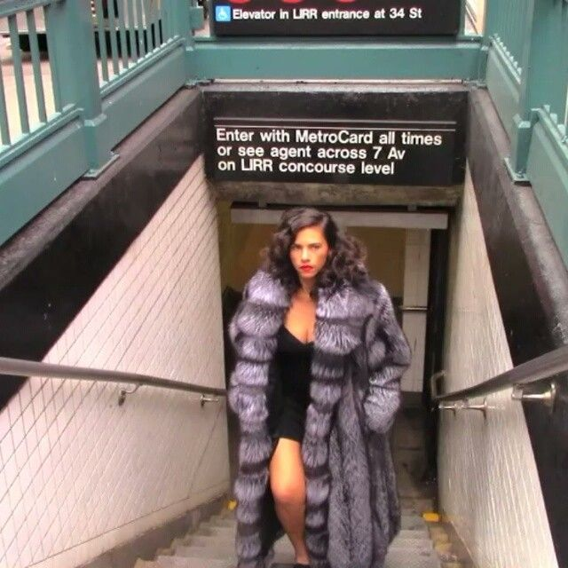 Silver fox coat at its very best, VIDEO