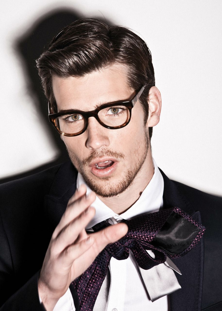 The Glasses - I want the glasses.  And tying the tie like a bow is genius for a runway show or photo shoot.