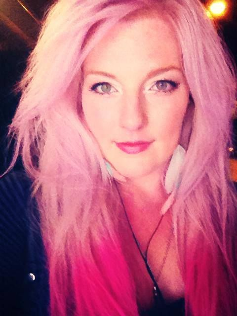 Ombre Effect Done With Splat Hair Chalk In Dusty Rose And Splat Hair
