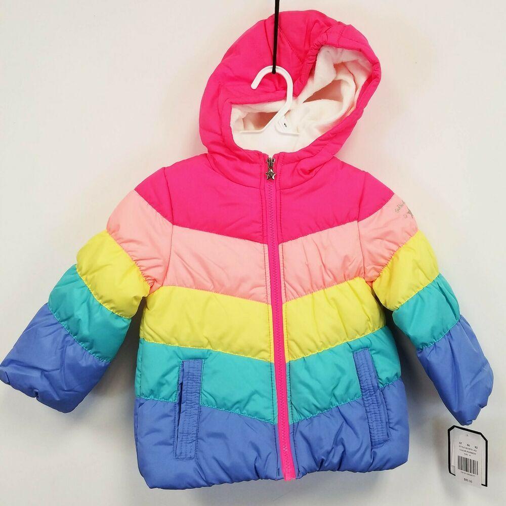 Toddler Girls Oshkosh B Gosh Hooded Jacket Rainbow