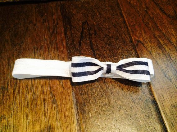 Navy and white headband bow on Etsy for $3.00! Cute for a little sailor outfit!