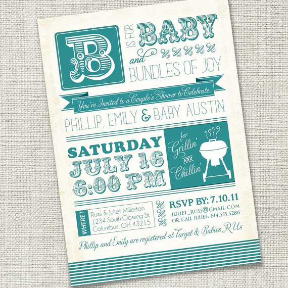 baby shower bbq invite!
