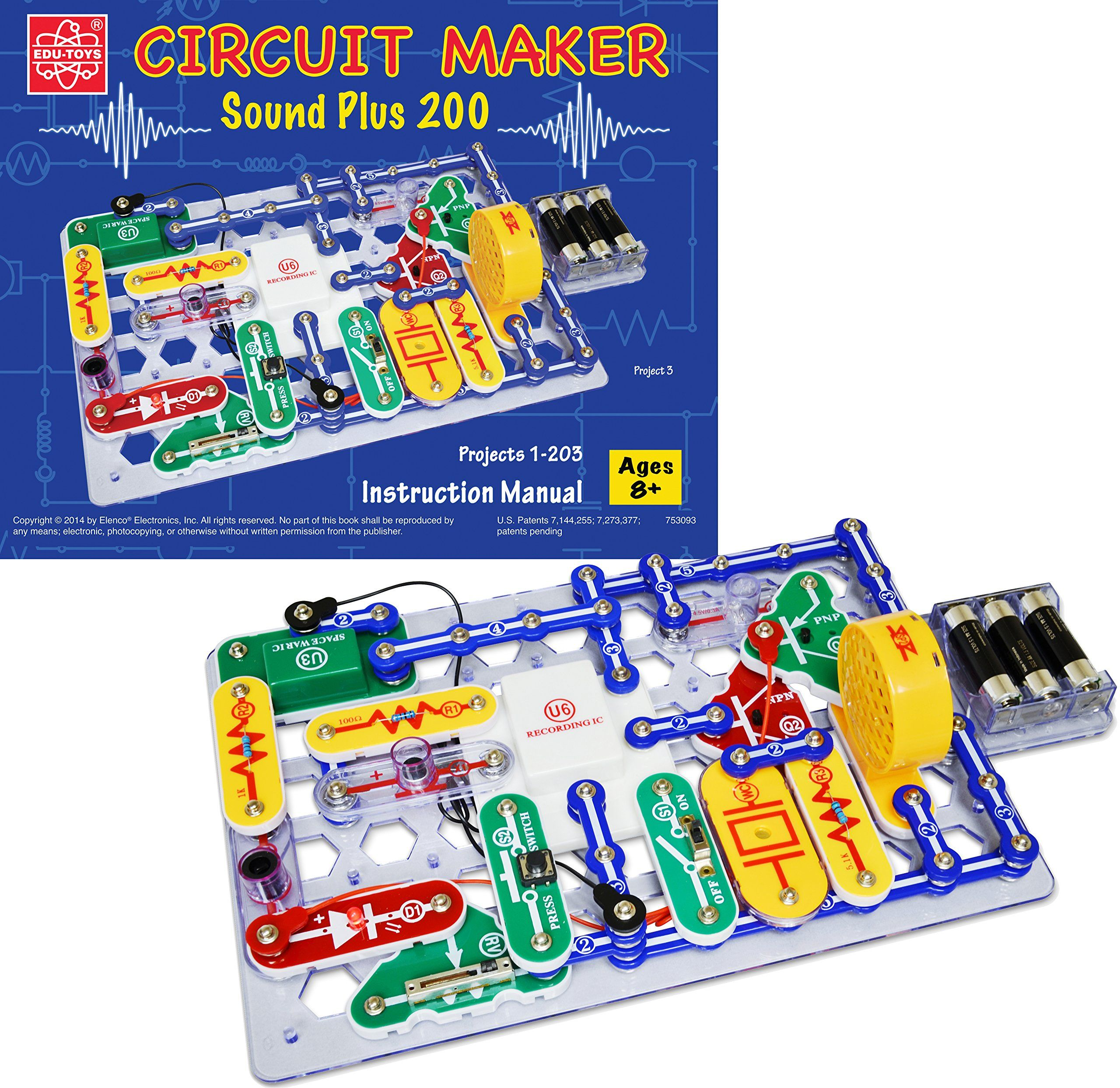 Amazoncom Elenco Circuit Maker 200 Sound Plus Electronics Discovery