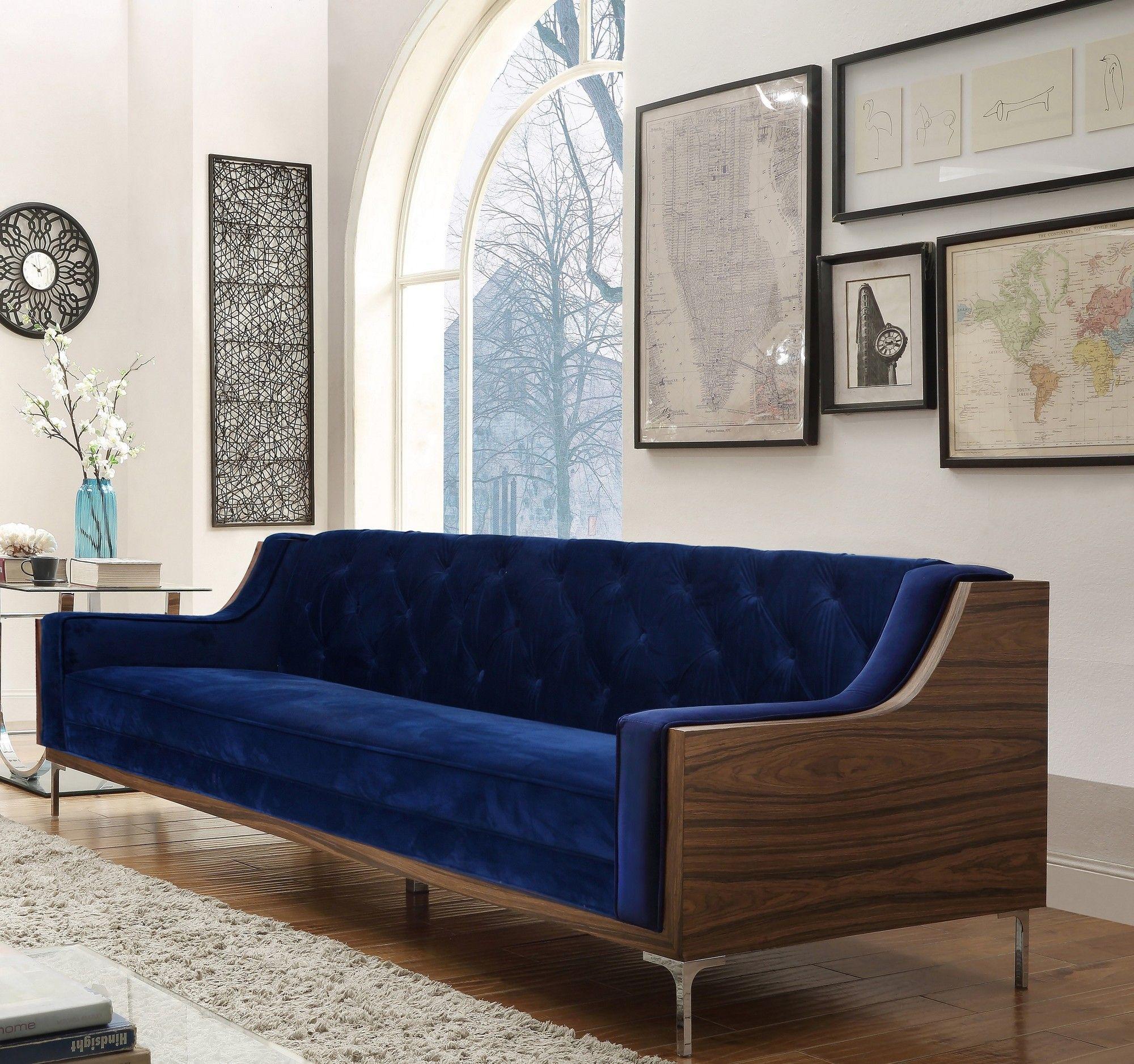 Clark Velvet Sofa Living Room Furniture Sale Chic Home Sofa