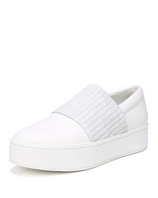 Vince Weadon Leather Platform Sneakers