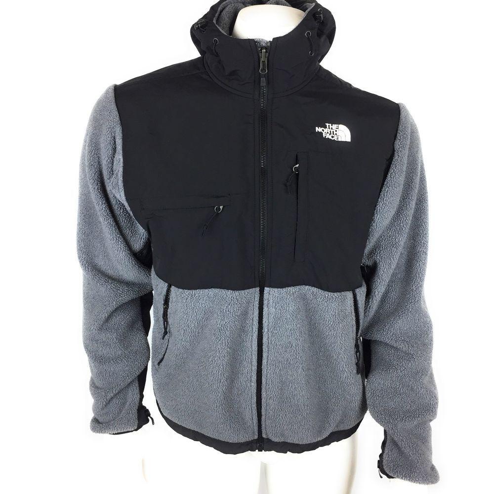 2ad17c405 The North Face Men's Denali Polartec Recycled Black Gray Jacket Coat ...