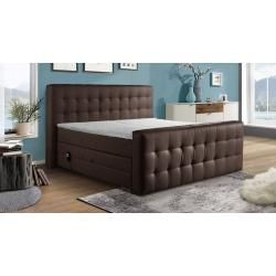 homedecor living room furniture #homedecor Boxspringbett Priverno, 200x200 cm, braun Winklewinkle