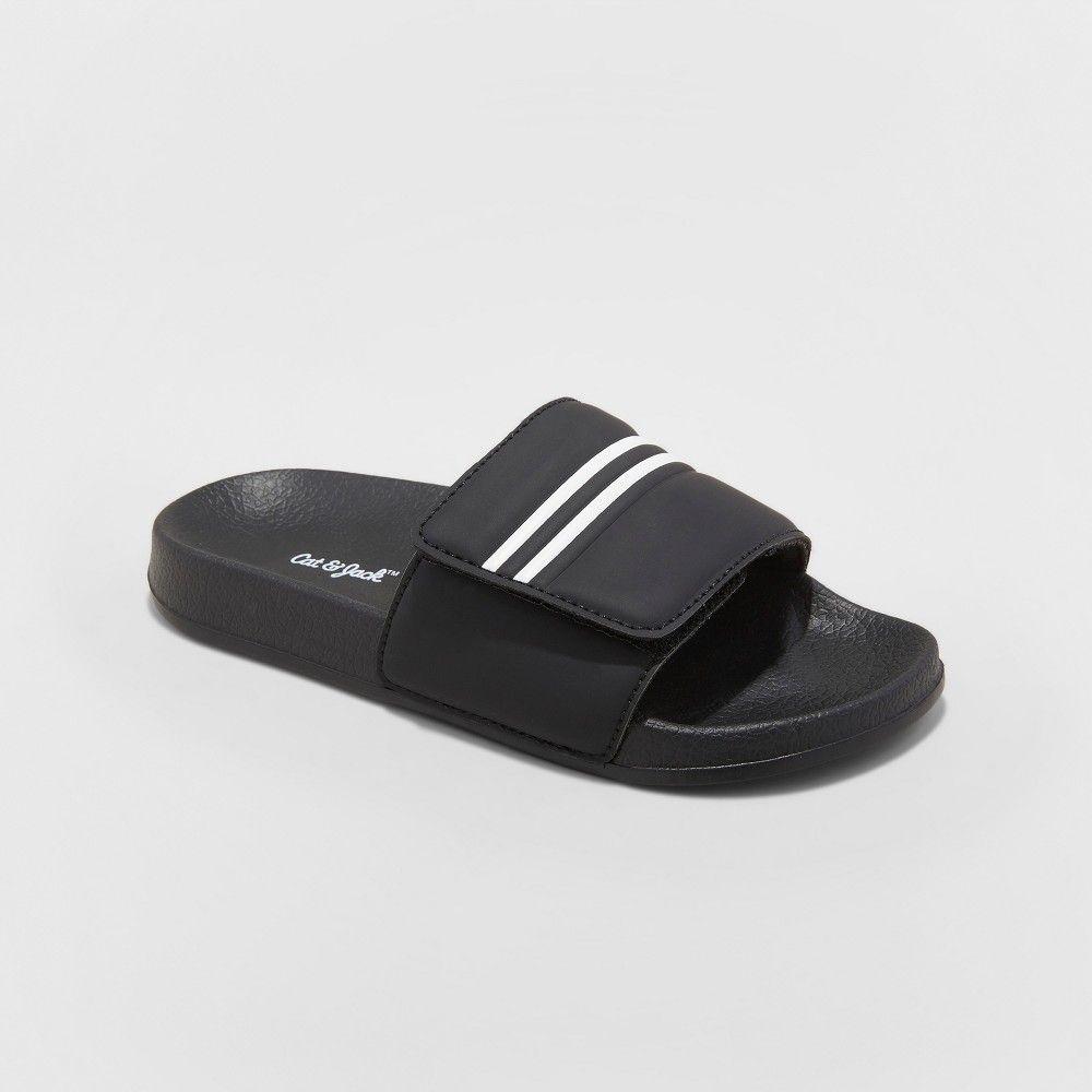 c6295af3d52 Boys  Wilton Black Slide Sandal - Cat   Jack Black S