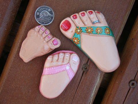 23d7d89aaeeb Rock Painting (feet and flip flops)