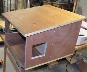 Use screws to assemble, stays together much better than nails. I always use lots of white glue. I pre drill a pilot hole so the plywood doesn't split. I usually put old carpet on the bottom, a curtain split in the middle over the opening. Don't use cotton towels or moisture holding fabric. Could use straw or sawdust. Check occasionally that the bedding is not wet. I found out catnip has some insect repellant qualities so I occasionally put some in to help keep fleas away.