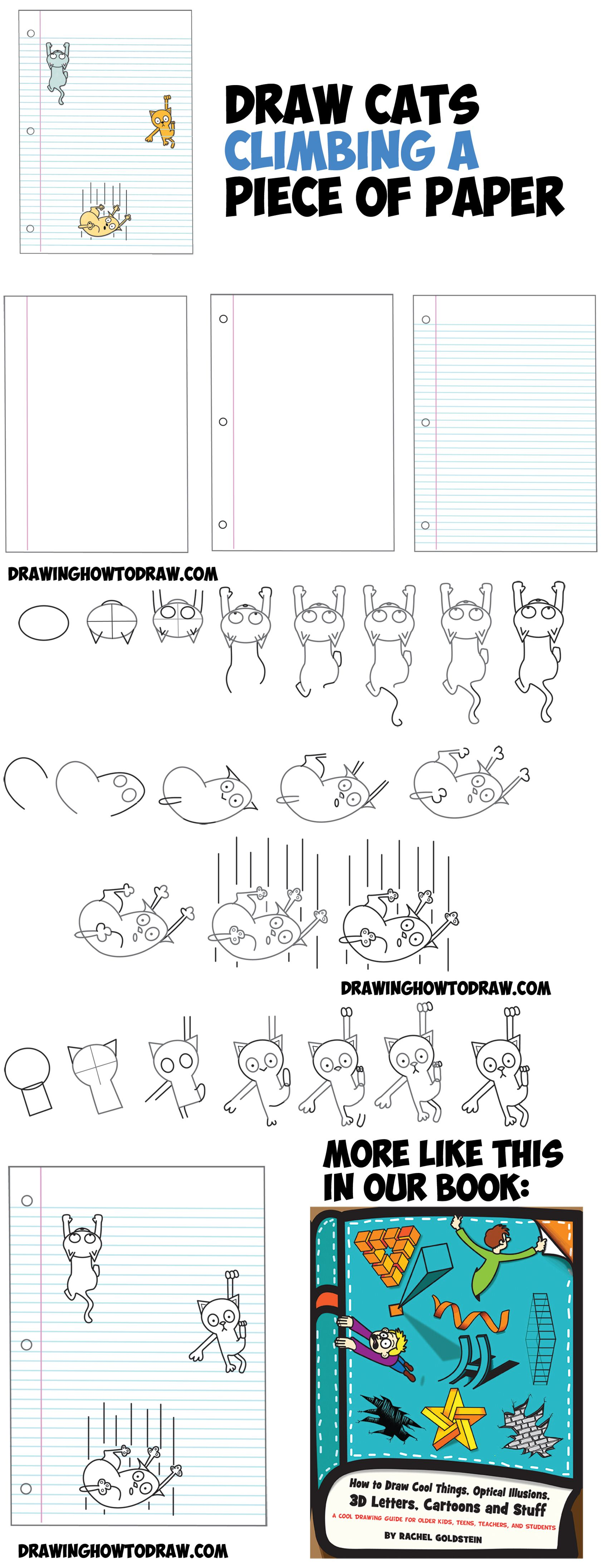 how to draw optical illusions step by step