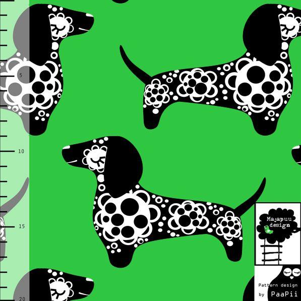 PaaPii Design - Mäyräkoira jersey, vihreä