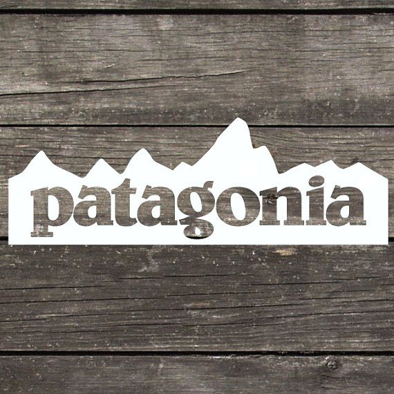 Patagonia inspired mountain decal made of premium indoor for Patagonia fish sticker