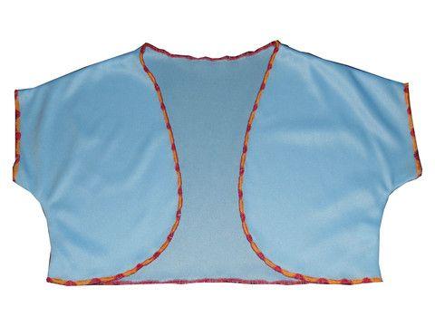 Girls Solid Blue Boleros Shrugs Jacket