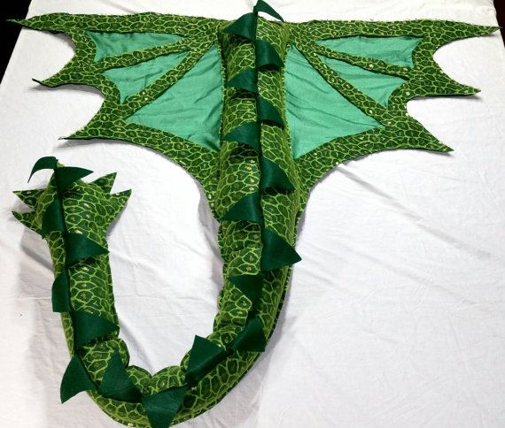 Dragon Wings Costume Super Long Tail w/ Awesome Shiny Scale Design ...