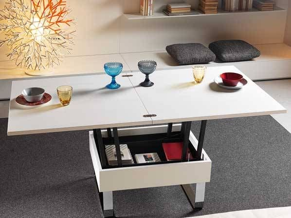 Fold Out Coffee Table Transforming To Dining Table Convertible