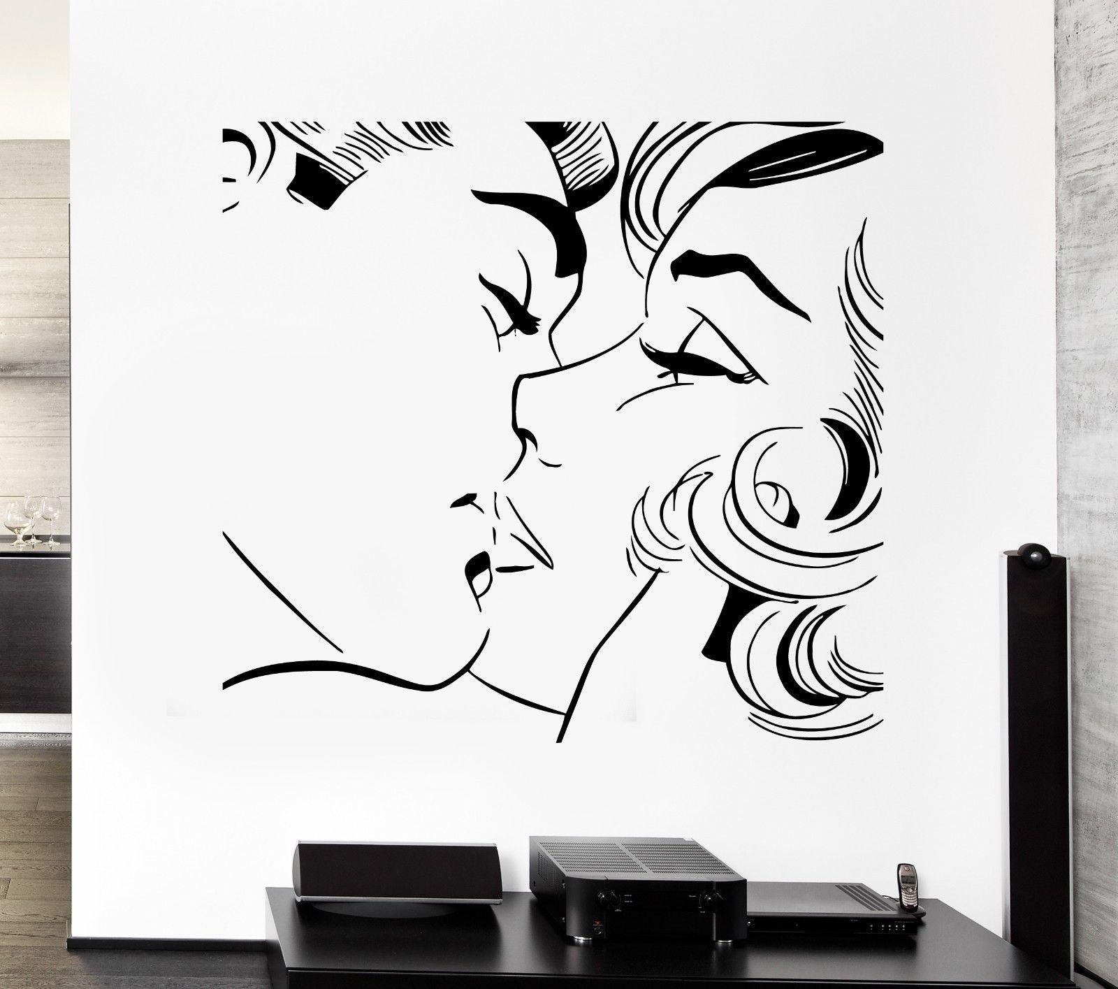Günstige 2016 Neue Paar Kuss Wandaufkleber Kuss Küssen Paar Romantische  Liebe Decor Für Pop Kunst Schlafzimmer