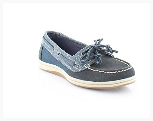 Sperry Top-Sider Women's Firefish Metallic Sparkle Boat Shoe,Navy  Leather/Textil (