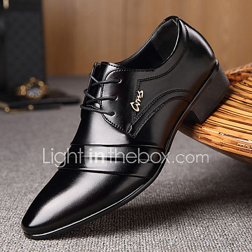 Men S Shoes Microfibre Spring Fall Comfort Oxfords Walking Shoes Lace Up Split Joint For Casual Black 20 Leather Shoes Men Dress Shoes Men Formal Shoes For Men