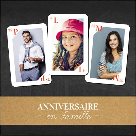 carte d 39 invitation anniversaire jeu des 7 familles personnaliser sur 30 ans. Black Bedroom Furniture Sets. Home Design Ideas