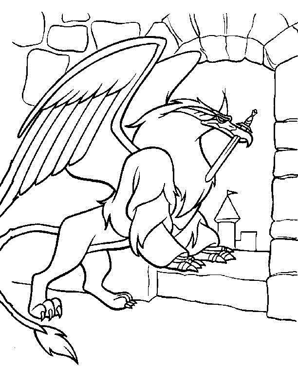 The magic sword quest for camelot coloring pages for kids for Quest for camelot coloring pages