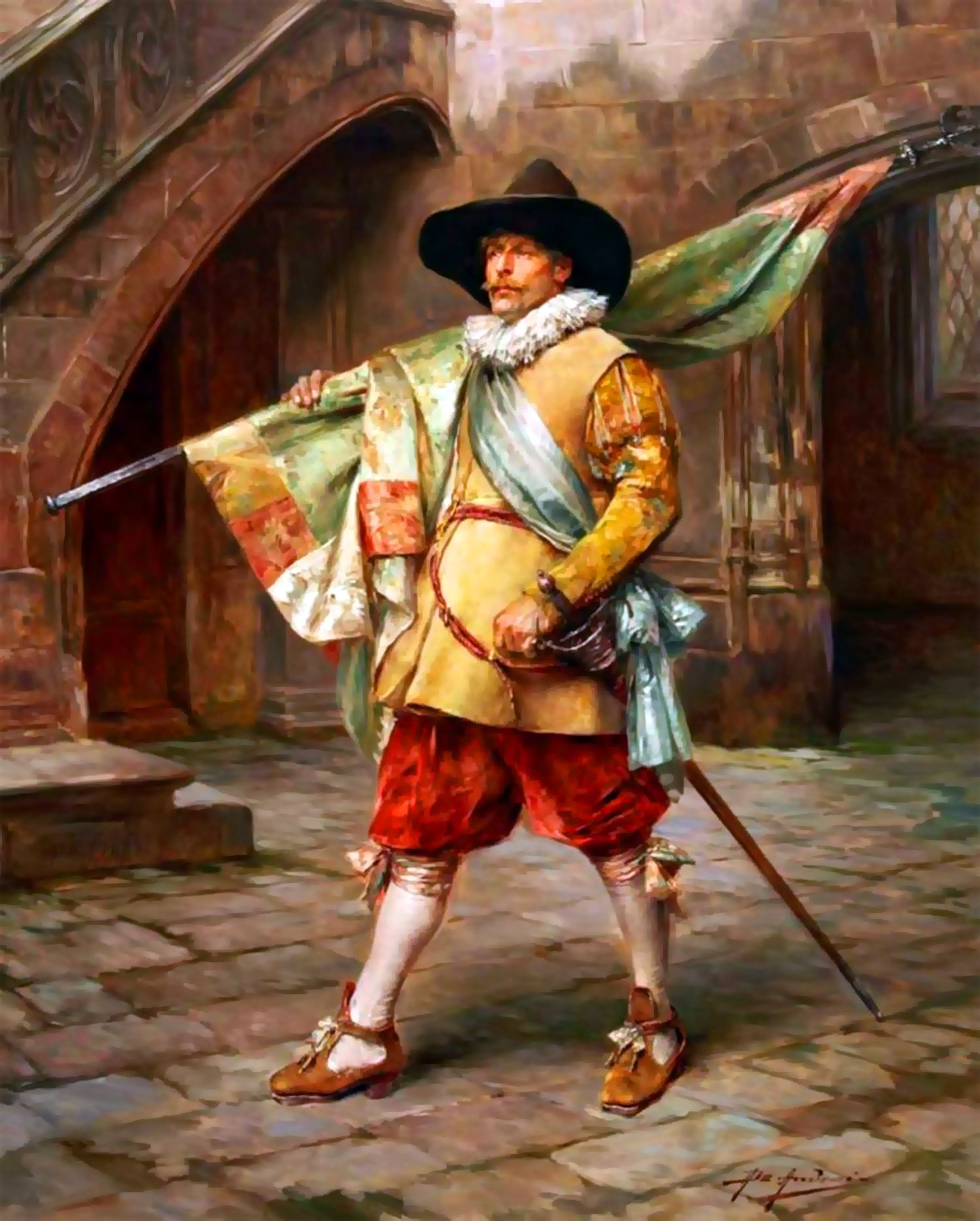 A Swedish Standard Bearer During The Thirty Years War By