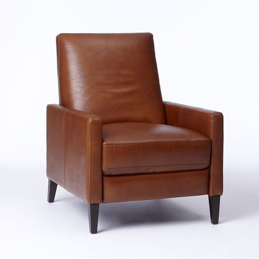 Sedgwick Recliner, Leather, Cognac one of the few recliners not making me sad.
