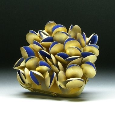 Jacqueline Ryan: Square brooch with lentil-shaped forms