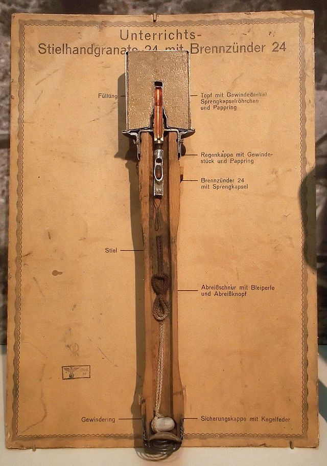 Section of the Stielhandgranate Model 24.