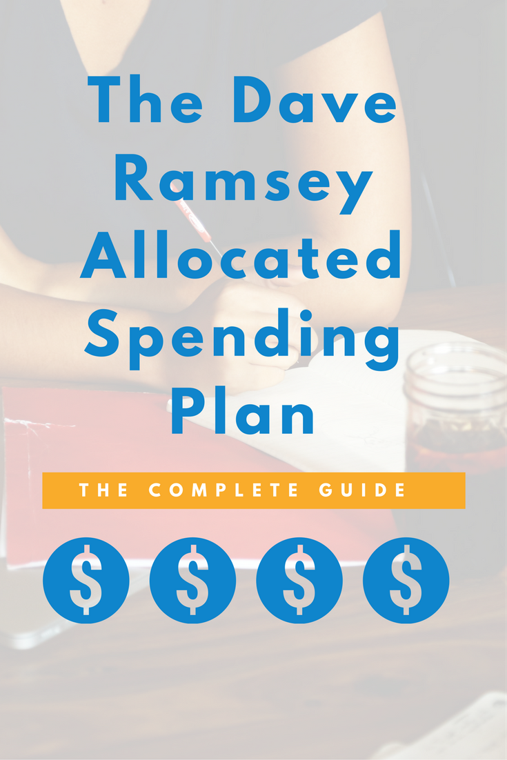 The Dave Ramsey Allocated Spending Plan: Guide + Worksheets | Pinterest
