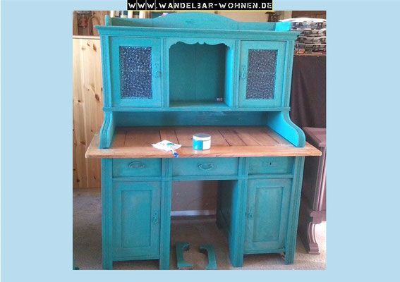 sekret r schreibtisch shabby chic annie sloan chalk paint white wash farbe m bel. Black Bedroom Furniture Sets. Home Design Ideas