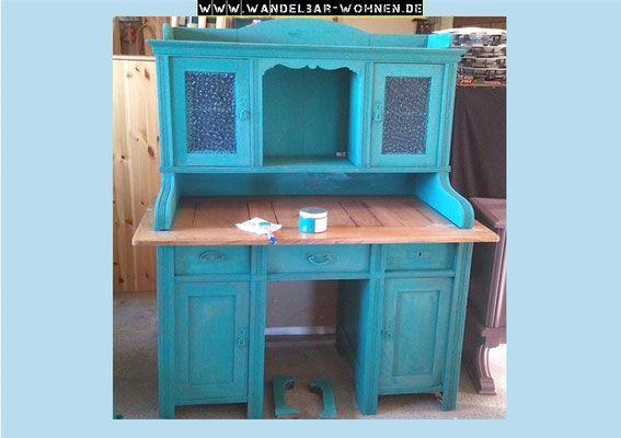 Möbel Streichen Farbe sekretär, schreibtisch, shabby chic, annie sloan, chalk paint, white