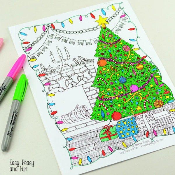Colorear-Página-Navidad | navidad diy | Pinterest | Colorear ...