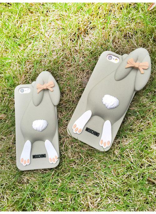 Moschino-Hase 3D-Silikonschutzhülle Weiches Gummi Rabbit für iphone 5 iphone 6 iphone 6 plus - elespiel.com