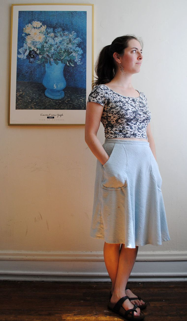 Sewn Half Circle Skirt With Pockets Hoopes Park Studios Circle Skirt Tulle Skirt Tutorial Skirts With Pockets