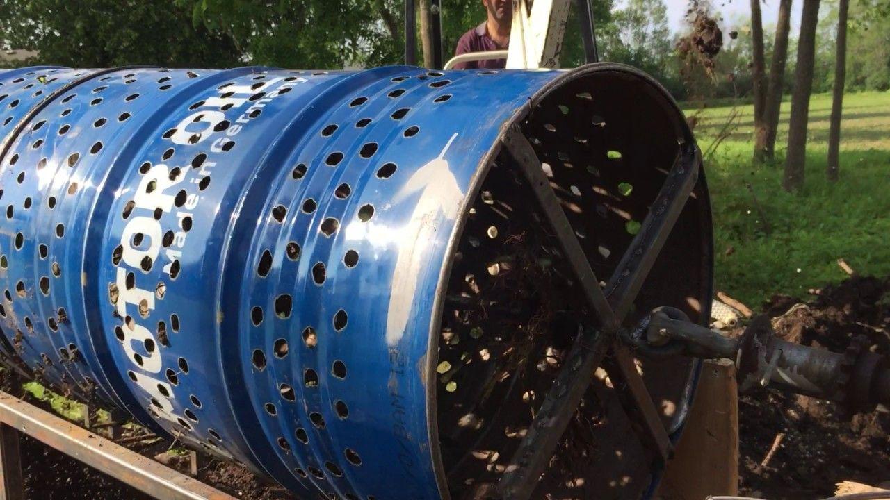 Diy Trommel Rotary Screen Separator Remove Rocks From Soil2