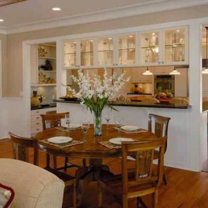 25 Dining Room Cabinet Designs Decorating Ideas: The Wall Of Closed And Glass Cabinets Creates A Nice
