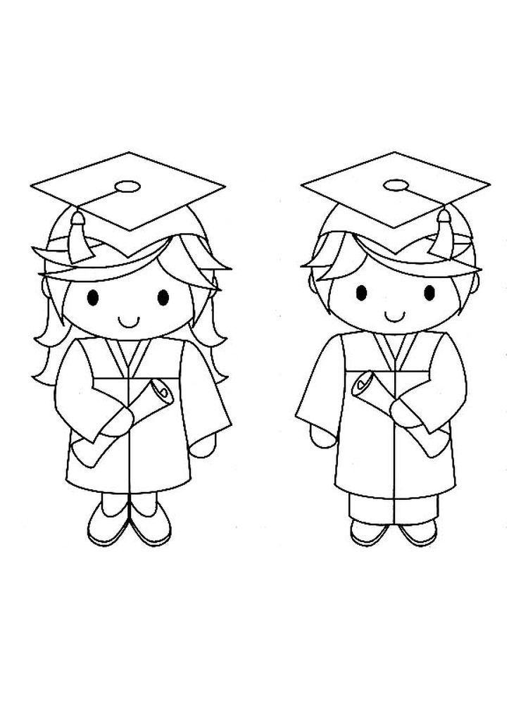 Graduation Hats Coloring Pages. Graduation day is a day