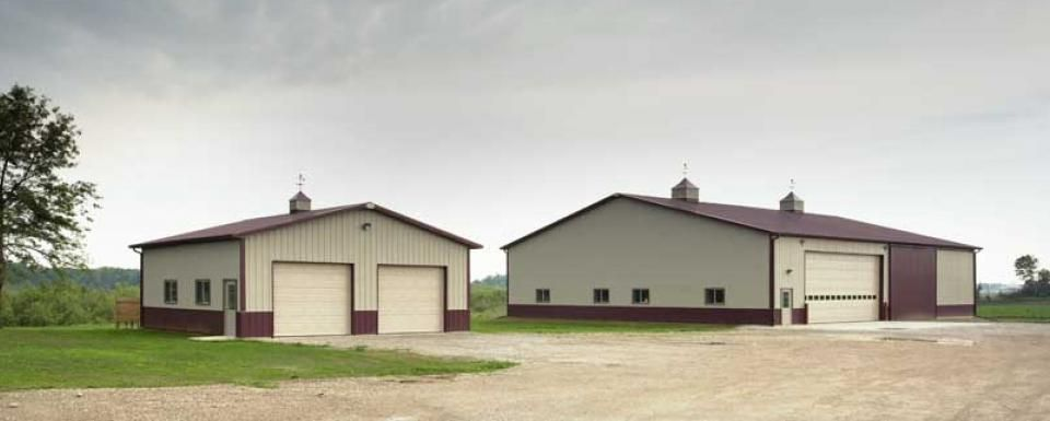 Farm building profile use multiple buildings for small for Farm house construction
