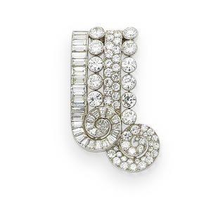 A diamond brooch, by Rubel Frères, circa 1935