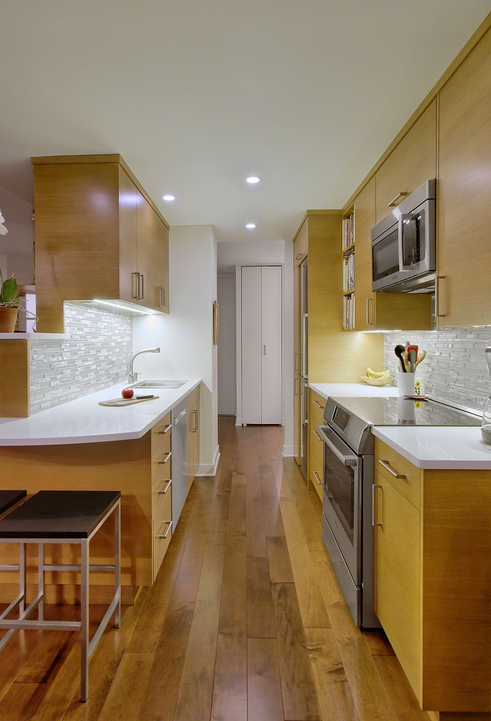 Compact Modern Kitchen Chicago Galley Style Kitchen Contemporary Kitchen Design Kitchen Remodel