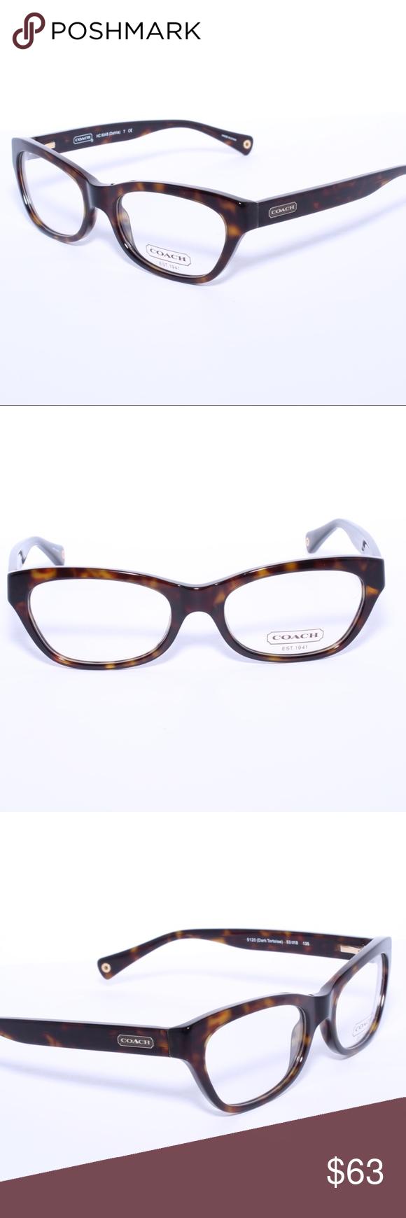 COACH HC 6045 5120 Dahlia Eyeglasses Optical Frame Brand New 100% Authentic COACH HC 6045 5120 Dahlia Eyeglasses Optical Frames Glasses Dark Tortoise 53mm Comes with Generic Case, NO Pouch Coach Accessories Glasses