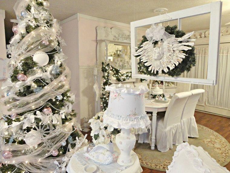 Shabby Chic Natale : Albero di natale particolare shabby chic addobbi natalizi