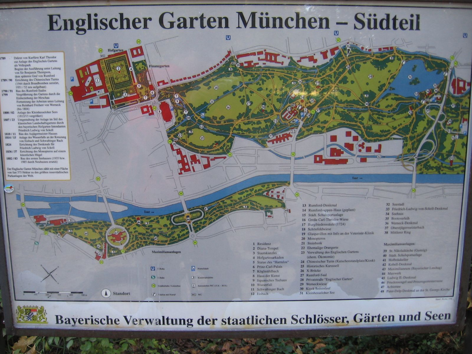 Map Of Munich S English Garden South Part Munich Travel Guide Landscape Architecture Degree Munich Travel