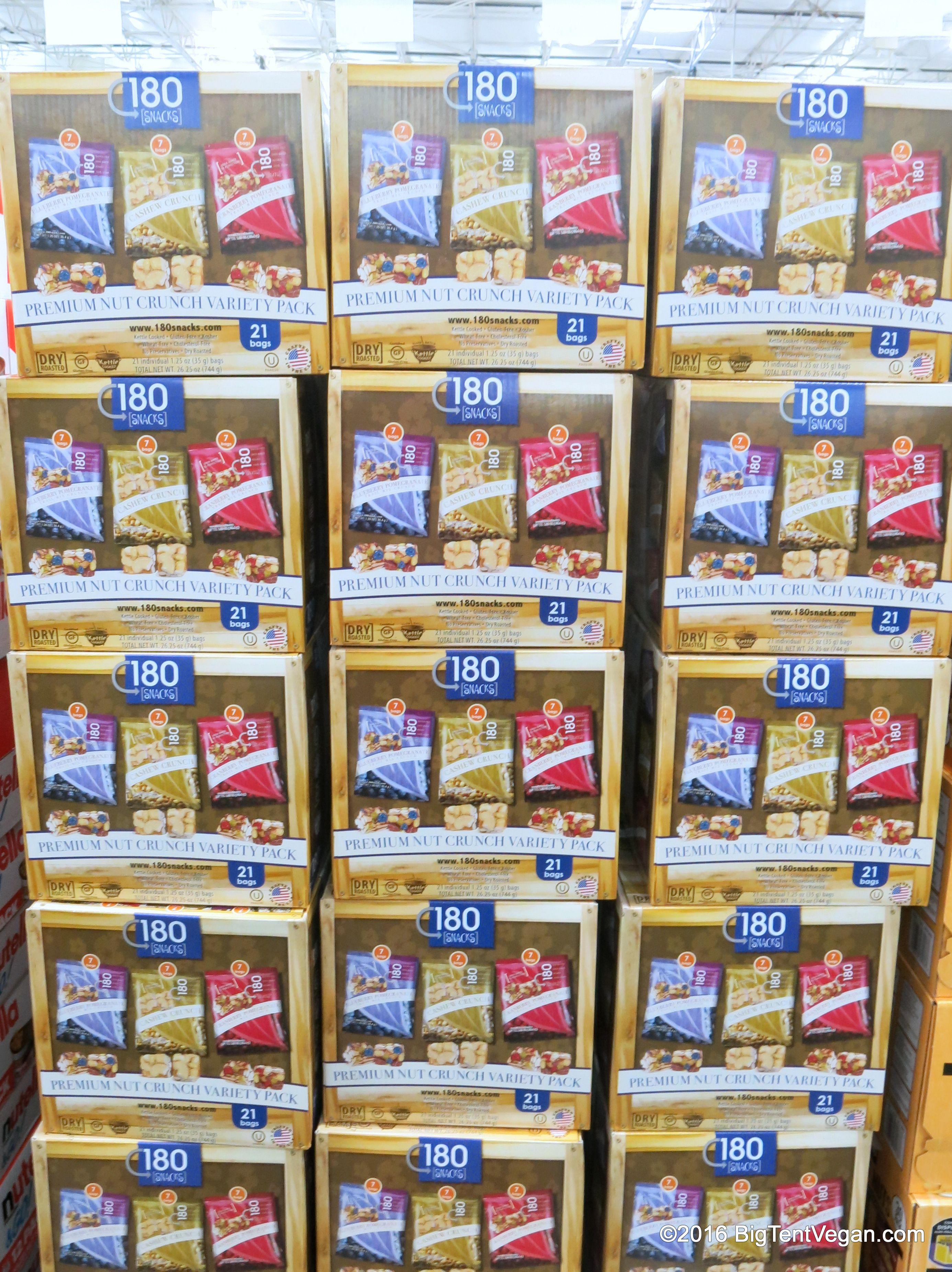 Premium Nut Crunch Variety Pack by 180° Snacks #costco