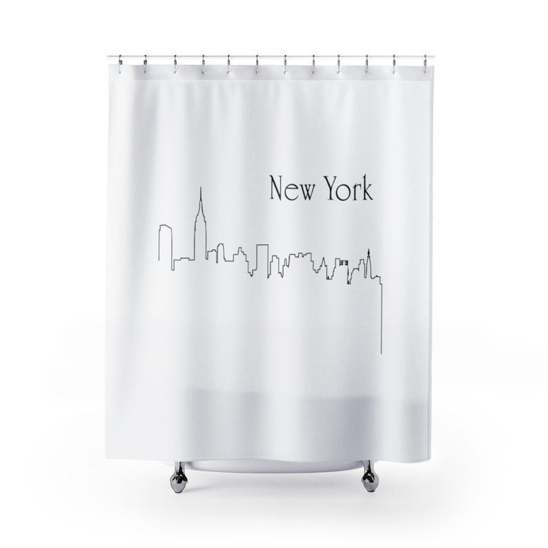 New York Shower Curtains Bathroom Bathroom Items Shower